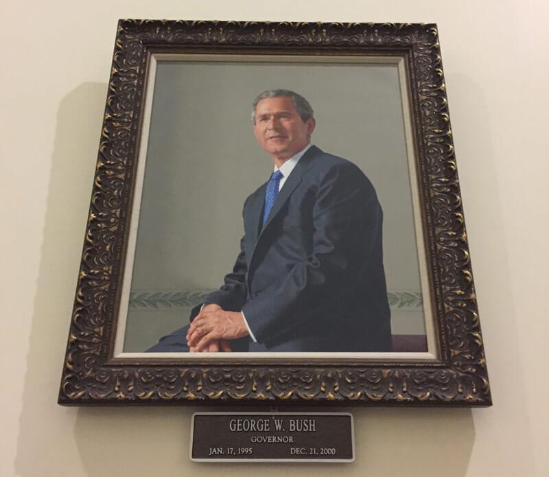ブッシュ元大統領の肖像画