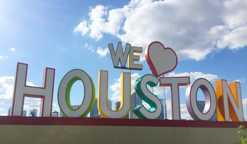 WE LOVE HOUSTONのフォトスポット
